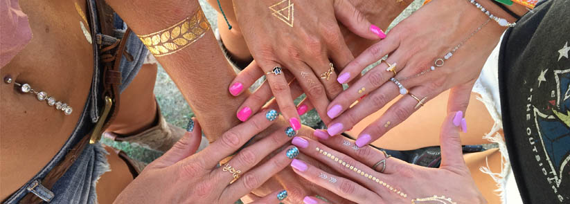 Metallic Tattoos | Festival Must Haves